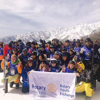 白馬ロータリークラブ主催 第32回交換学生スキーの集い