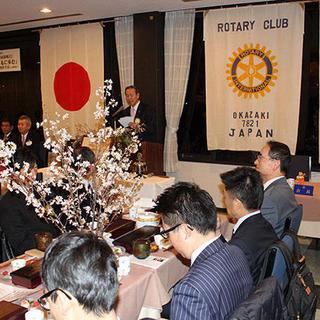 桜が満開の中、初の合同例会 初の合同例会  岡崎RCと岡崎RAC
